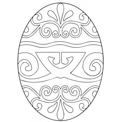 яйцо трафарет для вырезания