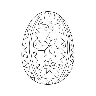 раскраска яйцо