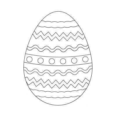 Пасхальное яйцо - шаблон для вырезания