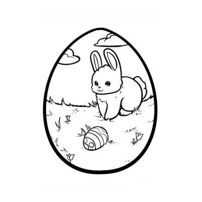 трафарет Пасхальное яйцо