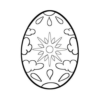 трафарет яйцо на Пасху