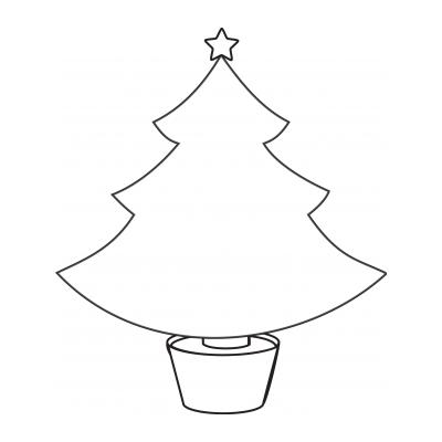 Трафарет дерево для зимней аппликации
