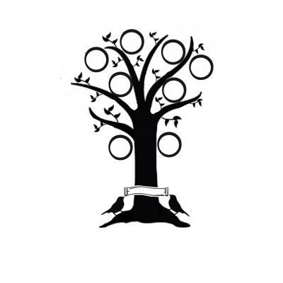 Трафареты деревьев с листьями