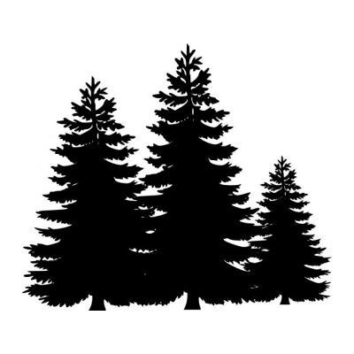 Трафарет дерево