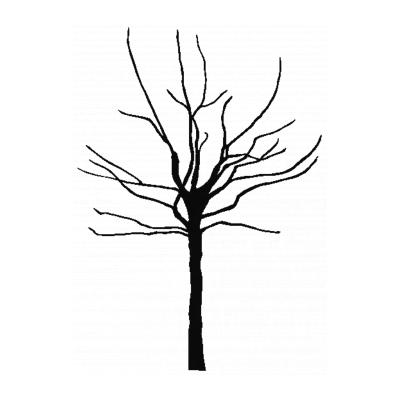 Трафарет дерево для вырезания из бумаги