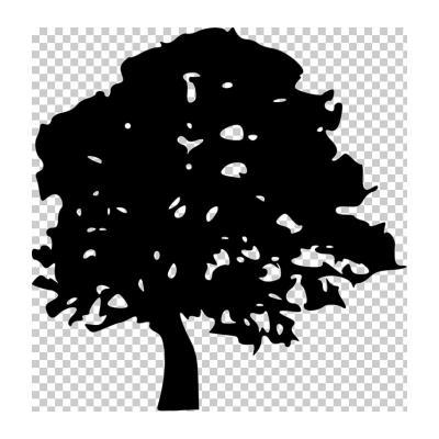Трафарет дерева для декора
