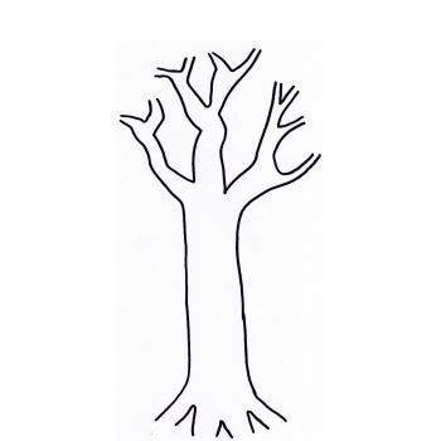 Шаблон дерева для поделки своими руками