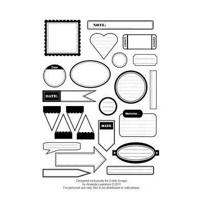 Черно белые стикеры для ЛД - распечатать, скачать бесплатно