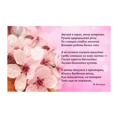 Стихи для детей про весну