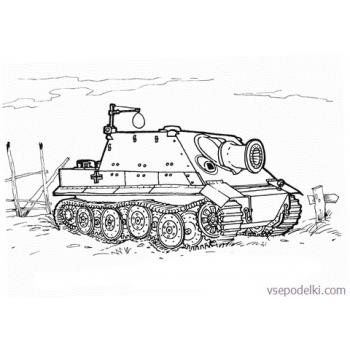 Раскраска Танки из World of tanks(sturmtiger-coloring-page)