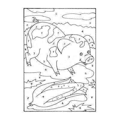 Раскраска по номерам для детей 6-7 лет - распечатать, скачать бесплатно