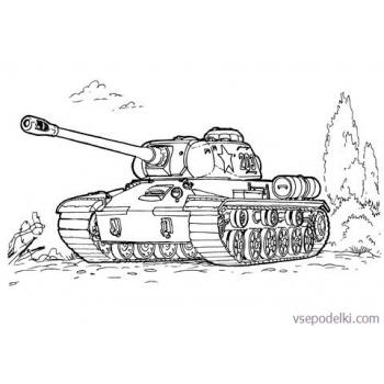 Раскраска Танки из World of tanks(tank-is-3-coloring-page)