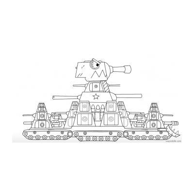 Раскраска тяжелого танка КВ 44