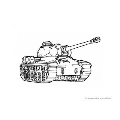 Раскраска Танк Т-34  - распечатать, скачать бесплатно