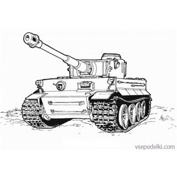 Раскраска Танки из World of tanks(tank-tiger-coloring-page)