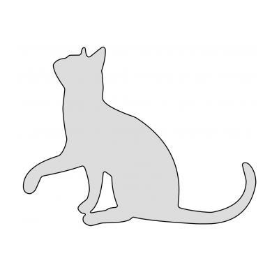 Шаблон кошки для раскрашивания