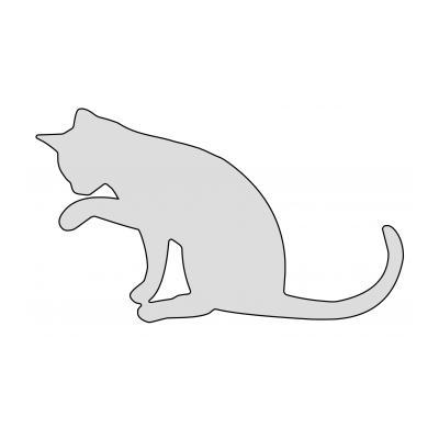 Трафарет кота