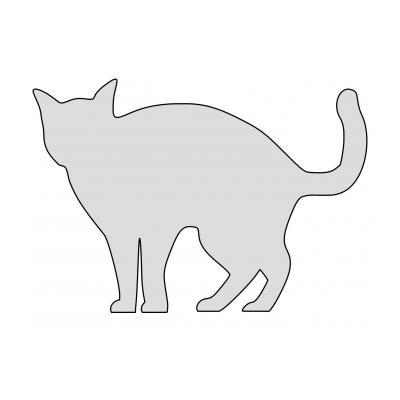 Трафарет кошки