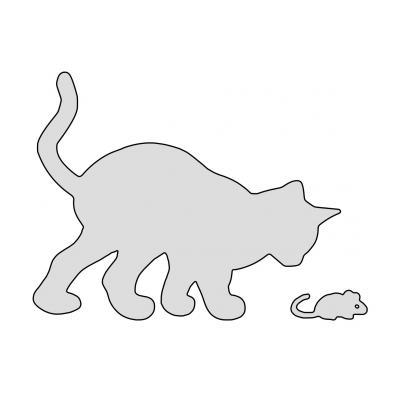 Трафарет кот для аппликации
