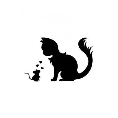 Шаблон кошка для вырезания из бумаги