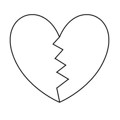 Шаблон сердце к Дню Матери
