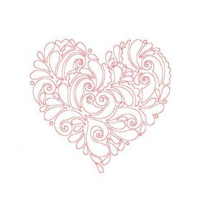 Трафарет сердце