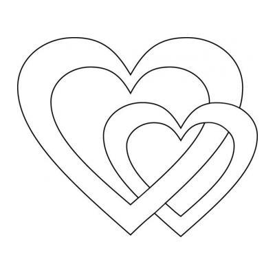 Трафарет сердечко