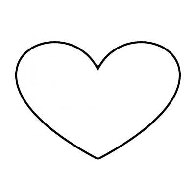 Трафарет и шаблон сердце для вырезания из бумаги