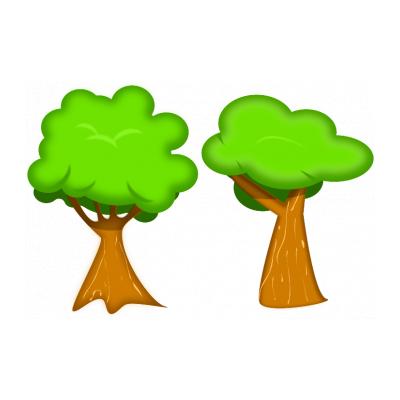 Трафарет дерево с листьями