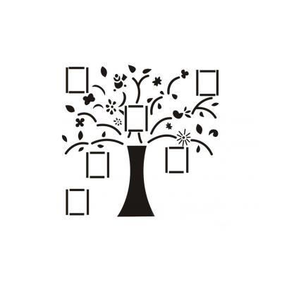Трафарет дерева для поделки