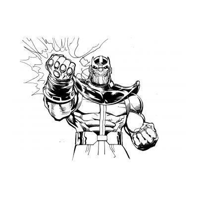 Раскраска Танос