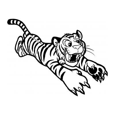 Раскраска с тигром