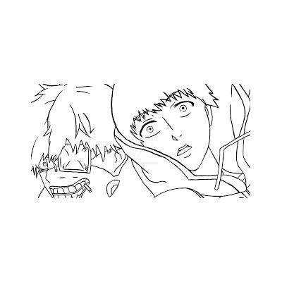 Раскраска аниме Токийский гуль