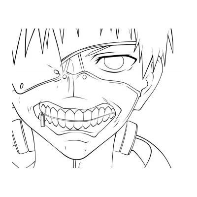 Раскраску аниме можно использовать как рисунок для срисовки