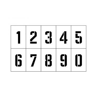 Распечатать или скачать трафарет цифры