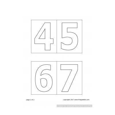 Распечатать или скачать шаблон цифр