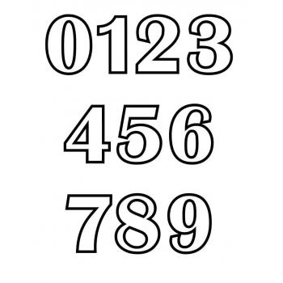 Трафарет цифр