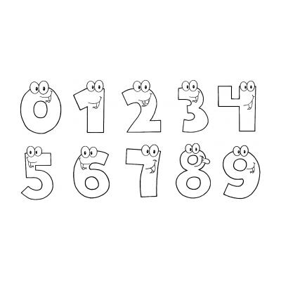 Шаблон цифры