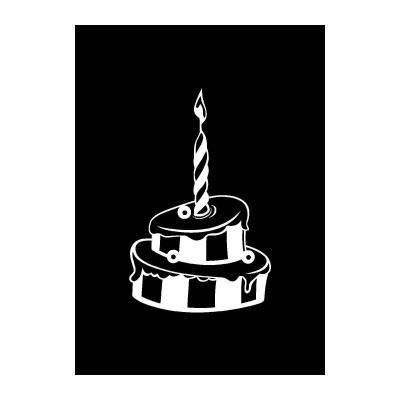 Трафарет День рождения