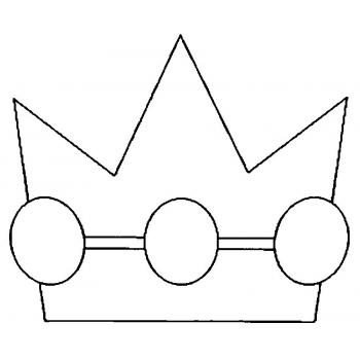 Трафарет короны из бумаги