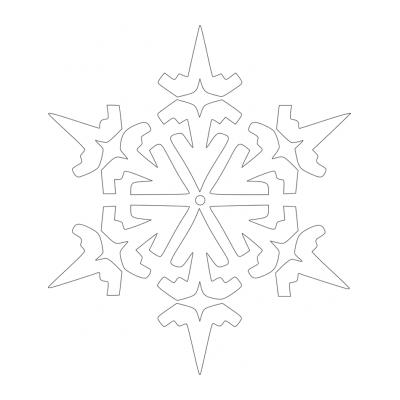 Шаблон снежинки для вырезания