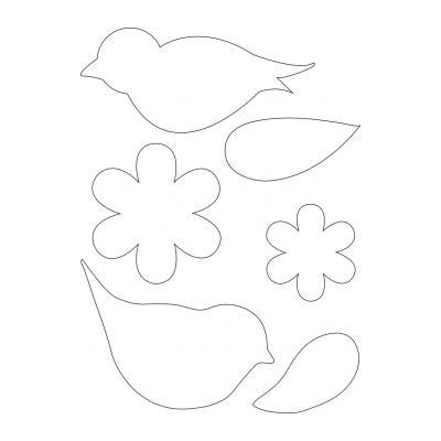 Шаблон Разные цветы