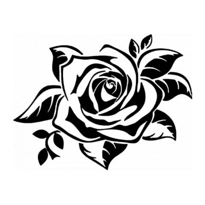 Трафарет цветов разного размера