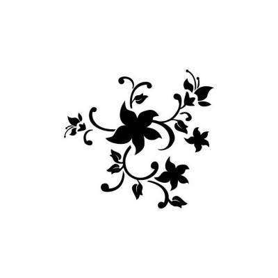 Трафаерт Веточка цветов