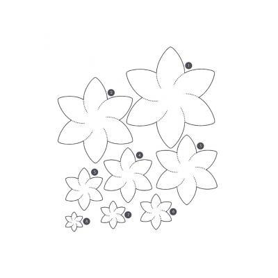 Шаблон красивых цветов