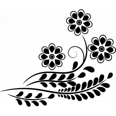 Трафарет Орхидея