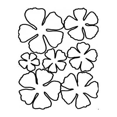 Трафаерт Цветки Ромашки