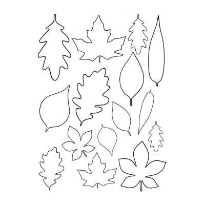 Трафарет цветов с листьями