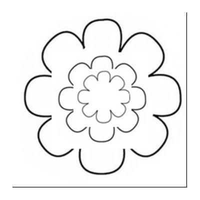 Шаблон Выпуклые цветы