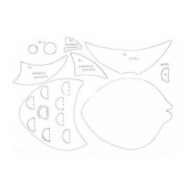 Трафарет для аппликации из ткани